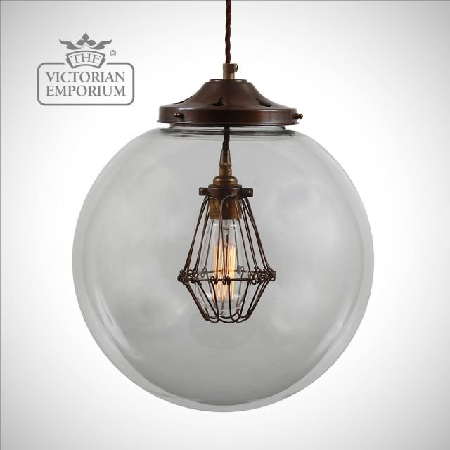 Robin Globe and Cage Ceiling Pendant