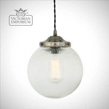 Reeded Globe Pendant