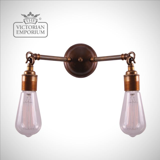 Arigo Double Wall Sconce in a choice of finishes