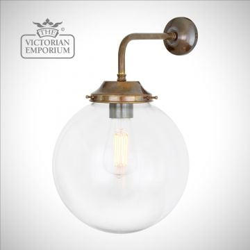 Simple Globe Wall Light in a choice of finishes and sizes