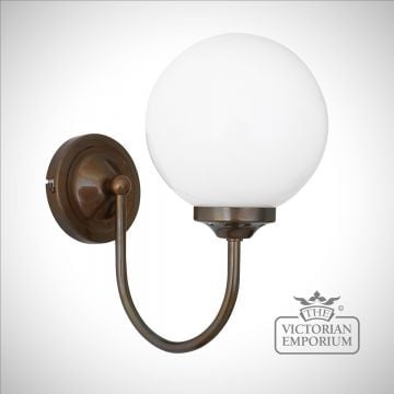 Simple Globe Wall Light with Swan Neck