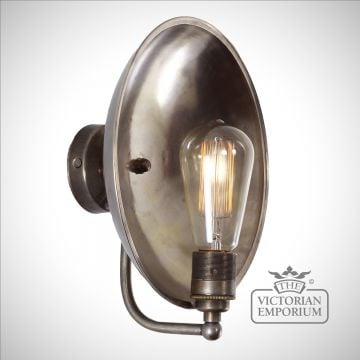 Cullen Industrial Dish Wall Light