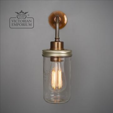 Jam Jar Flush Wall Light in a choice of finishes