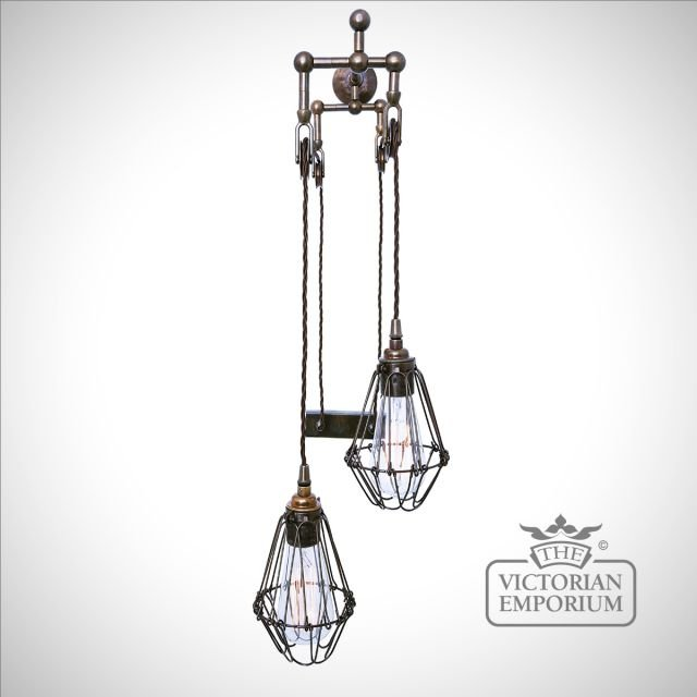 Maxim Double Pulley Wall Light