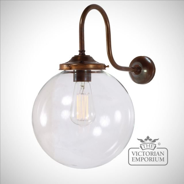 Riad Globe Wall Light in a choice of colours and sizes