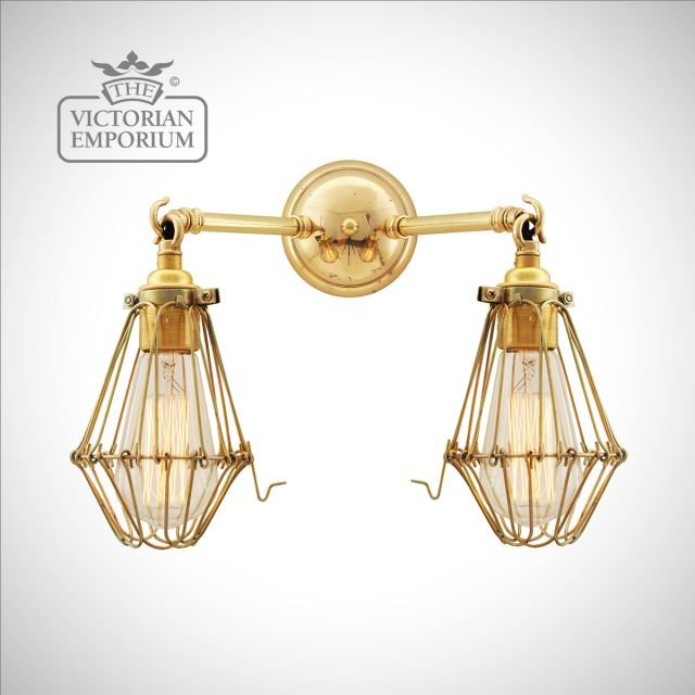 Rigo Double Cage Wall Light in a choice of finishes