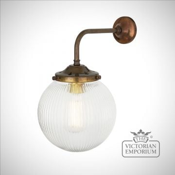 Stanley Fluted Globe Wall Light