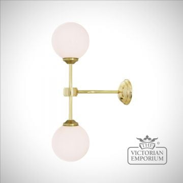 Double Globe Wall Light
