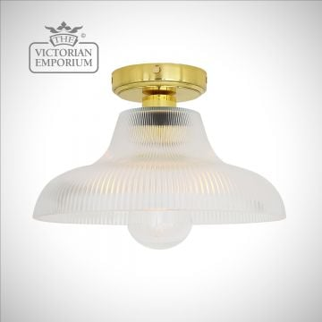 Aqua Bathroom Ceiling Flush Mount Light - Choice of 2 sizes