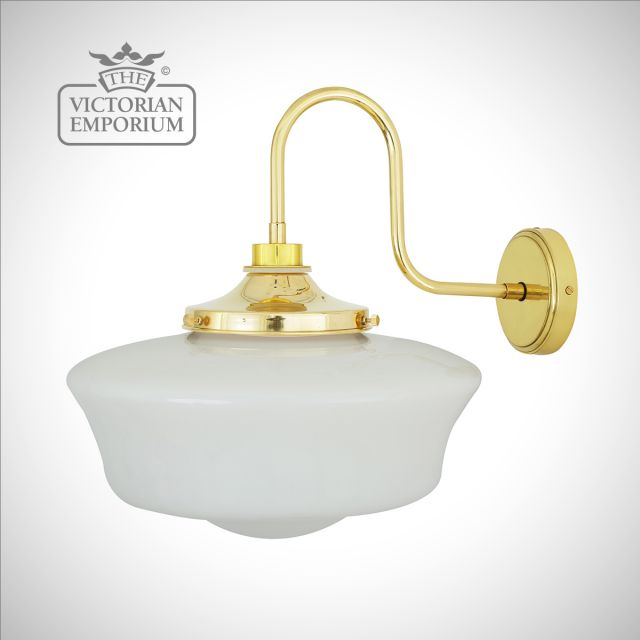 Anath Bathroom or Outdoor Swan Neck Wall Light