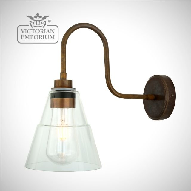 Kairel Swan Neck Bathroom or Outdoor Coolie Wall Light