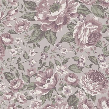 Rosie wallpaper in choice of 4 colours
