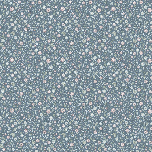 Jasmine wallpaper in Blue, Pink or Cream Pattern
