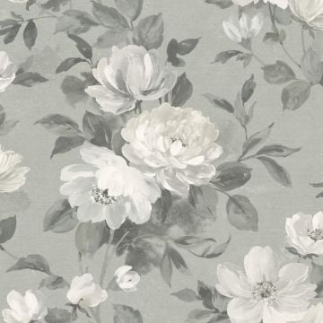 Peony wallpaper in choice of 4 colours