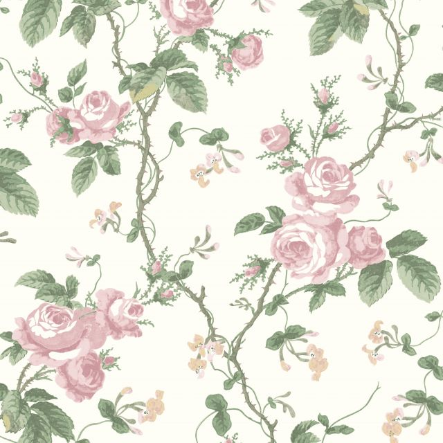 French Roses wallpaper in choice of 4 colours