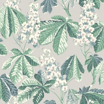 Chestnut Blossom wallpaper with a deep blue or grey background