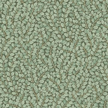 Hazel wallpaper with a choice of dark green or light green colourways