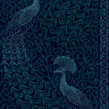 Pavo Peacock metallic wallpaper in choice of five colours