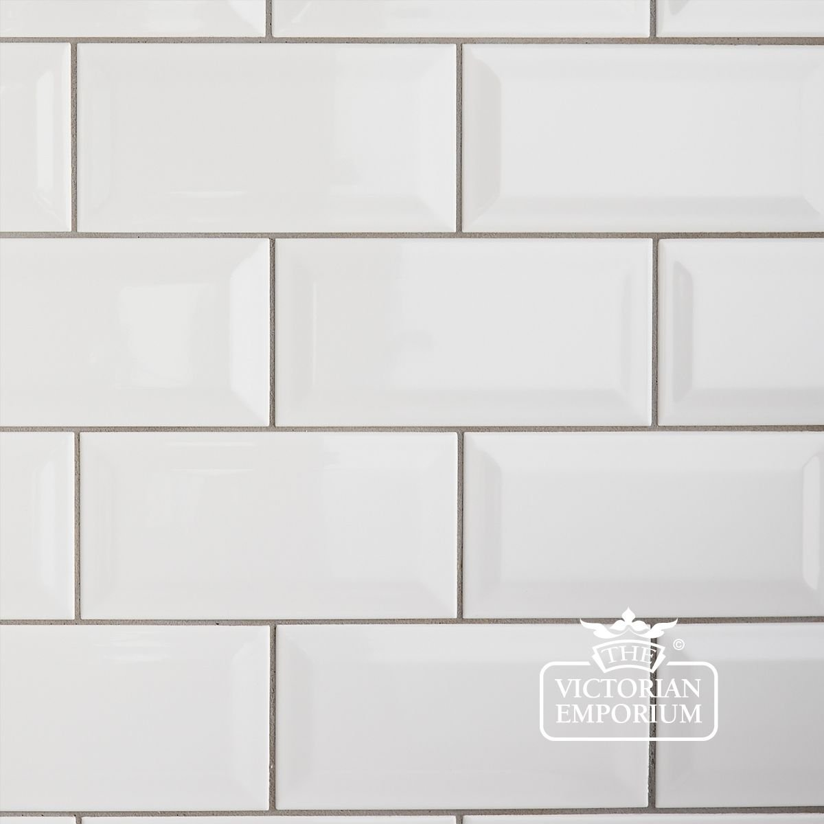 Bevel Wall Tiles 100x200mm White Interior Ceramic Wall