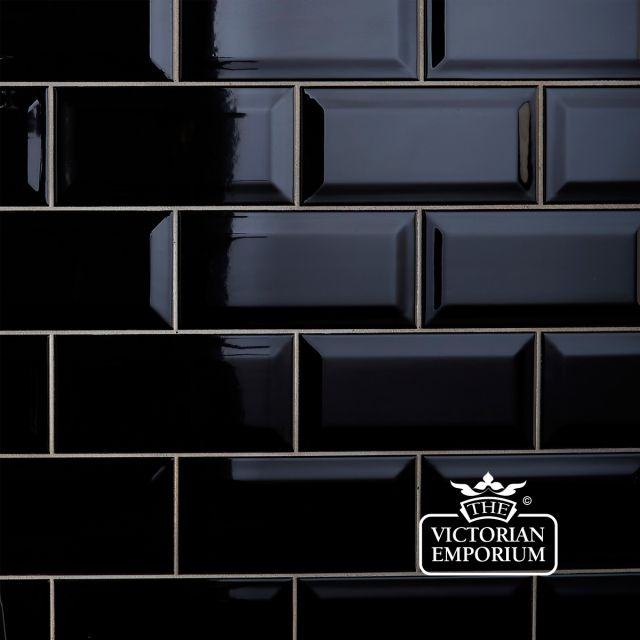 Bevel wall tiles - 100x200mm black