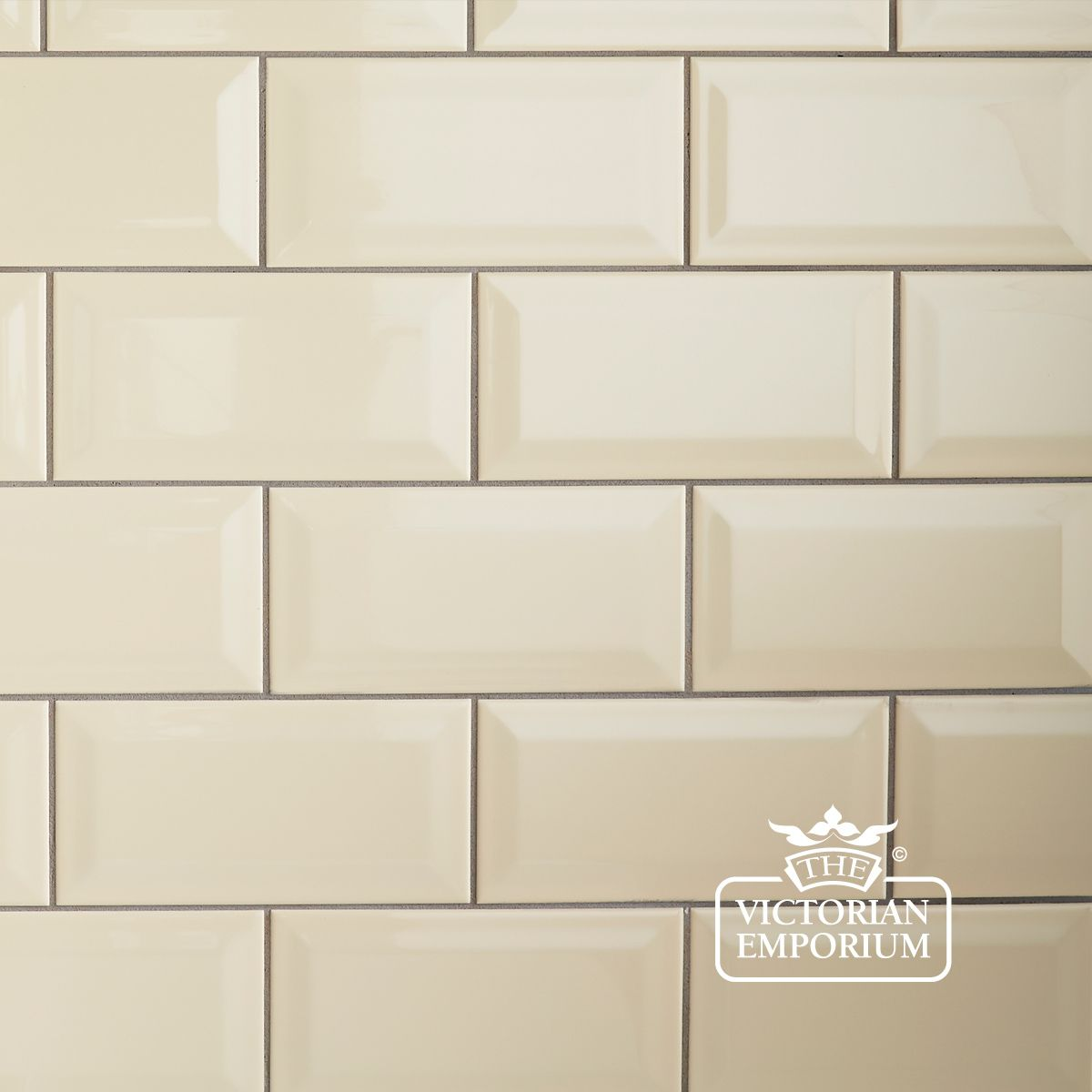 Bevel Wall Tiles 100x200mm Cream Interior Ceramic Wall
