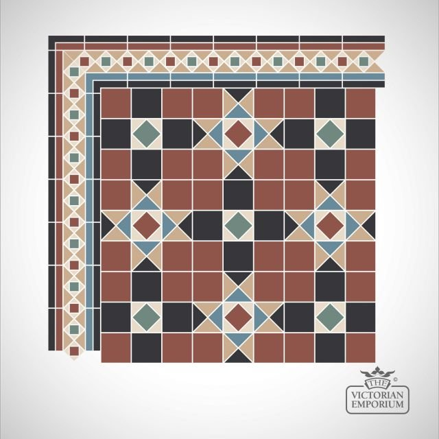 Donnell Victorian Mosaic Floor Tiles - Centre Pattern