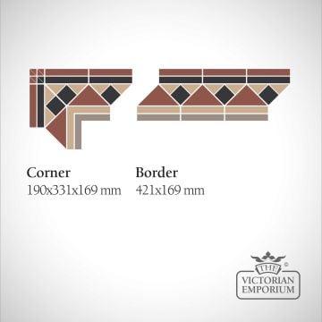 Glasgow Victorian Mosaic Floor Tiles - Corner or Border