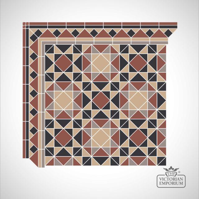Glasgow Victorian Mosaic Floor Tiles - centre panel