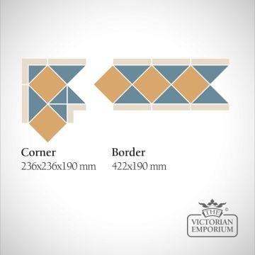 Aveiro Victorian Mosaic Floor Tiles - corners and borders