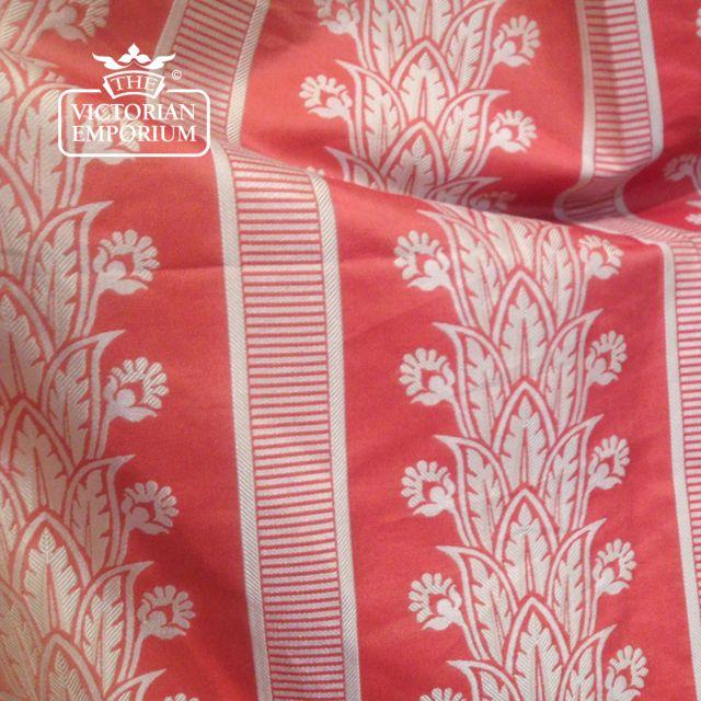 Amalfi Stripe Fabric in Tomato