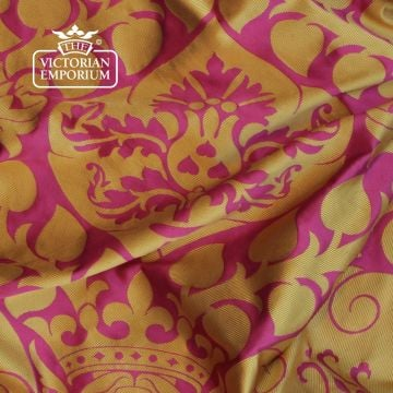 Ashdown Mayfair fabric in Cerise and Gold