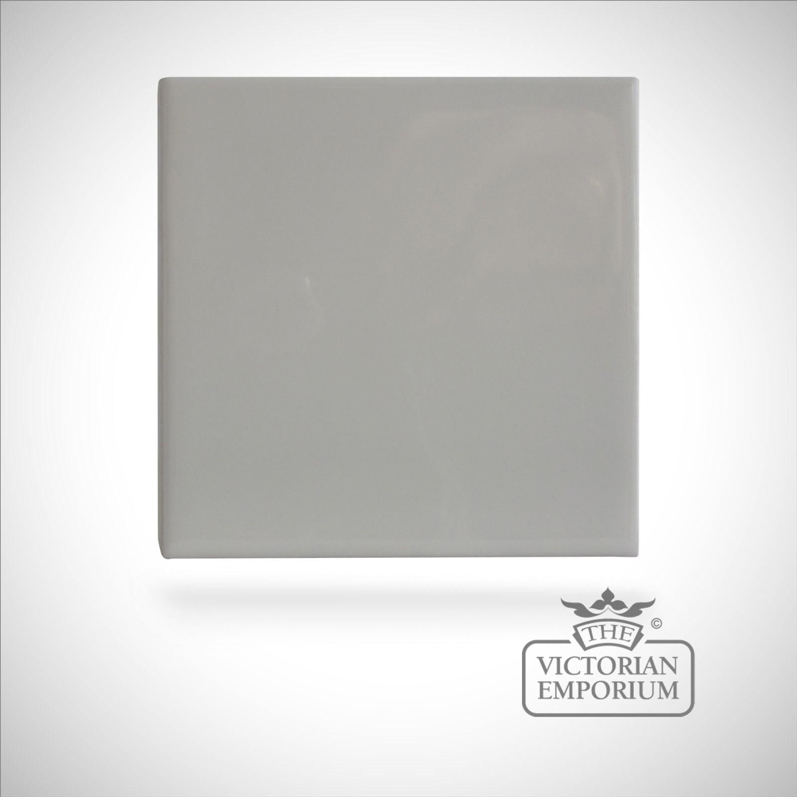 Neutral coloured tiles - White - 110x110mm