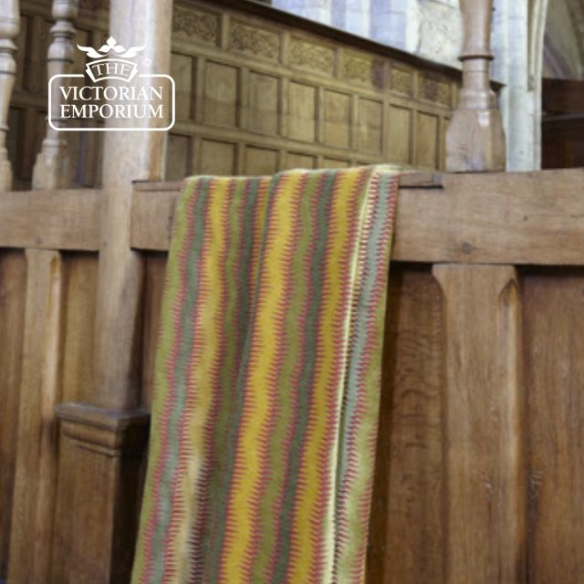 Dante Stripe Fabric in Gold or Red