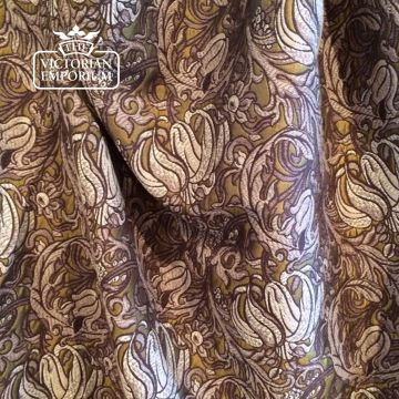 Dore Lily Fabric in Umber Ash