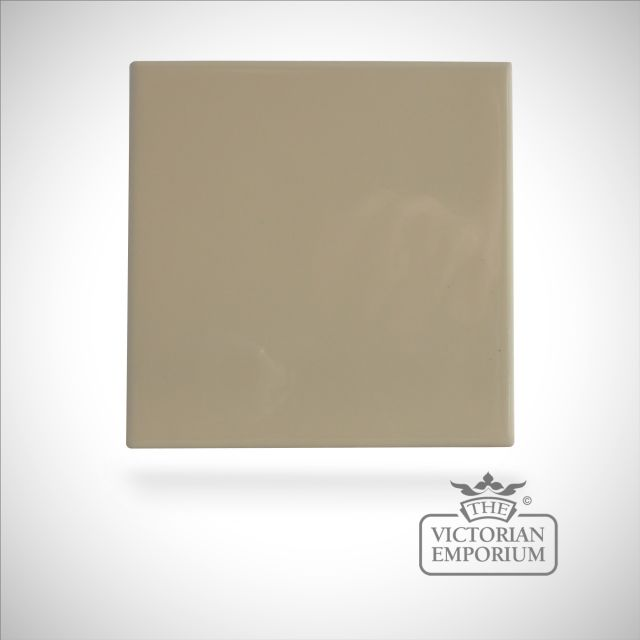 Neutral coloured tiles - Buttermilk 110x110mm