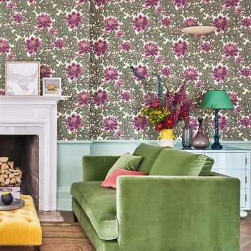Aurora wallpaper in a choice of 4 colourways