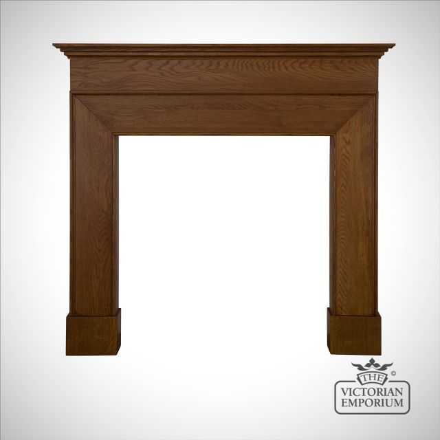 Nostell Wooden Fireplace surround in Pine or Oak