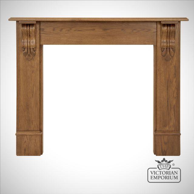 Edinburgh Corbel Wooden Fireplace surround in Pine or Oak