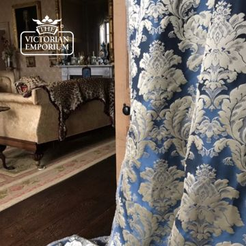 Genevieve Fabric in Blue Chiffon