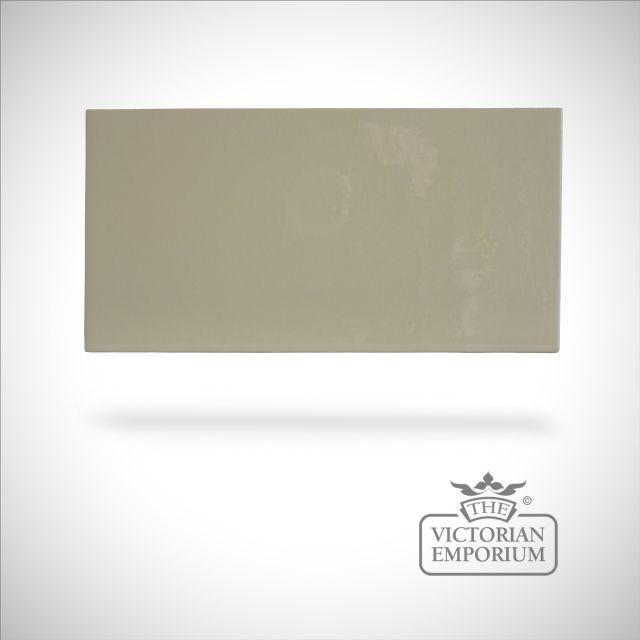 Plain brick crackle glazed - Cream - 100x200mm