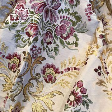 Malibran Fabric in Rose Garden