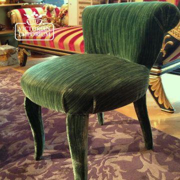 Perpignan Velvet Fabric in Green or Rose