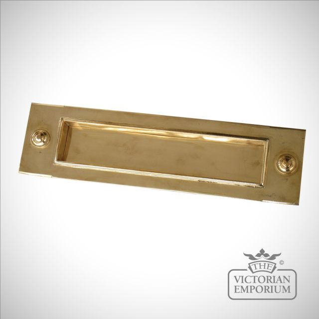 Large front door letterplate in a choice of metals