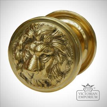 Lions Head Front Door Knob