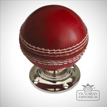 Cricket ball turning handle with nickel or brass base