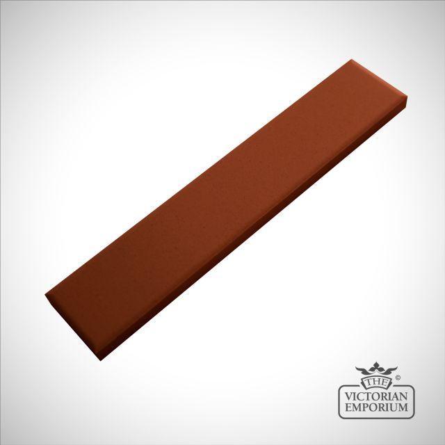 Victorian Border tiles - plain red strips
