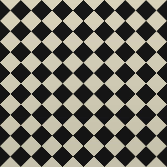 Victorian Path tiles - Black and White 64mm x 64mm squares (suitable for outdoor use)