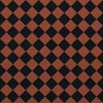 Victorian Path tiles - Black and Red 64mm x 64mm squares (suitable for outdoor use)
