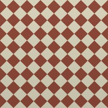 Victorian Path tiles - Red and White 64mm x 64mm squares (suitable for outdoor use)