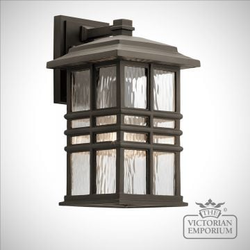 Beacon exterior wall light in bronze in a choice of sizes